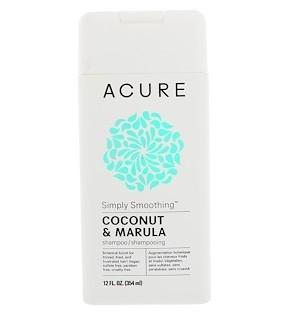 Acure, Simply смягчающий шампунь, кокос и марула, 12 ж. унц. (354 мл)