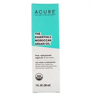 Acure, The Essentials, марокканское аргановое масло, 30 мл (1 жидк. унция)