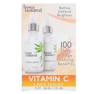 InstaNatural, Сыворотка с витамином C, комплект из 2 средств для ухода за кожей, 1 ж. унц. (30 мл) каждый