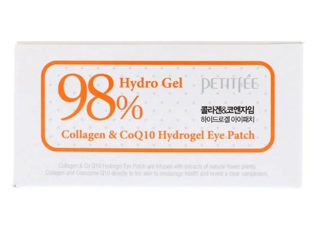 Петитфии, Патчи для глаз с коллагеном и гидрогелем CoQ10, 60 шт, 1,4 г каждый