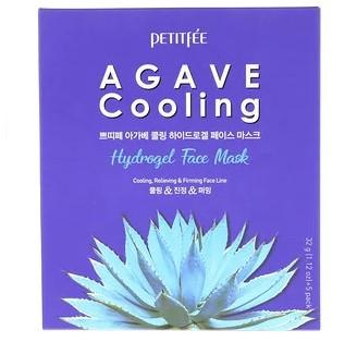 Petitfee, Охлаждающая агава, гидрогелевая маска для лица, упаковка с 5 шт. по 1,12 унции (32 г)
