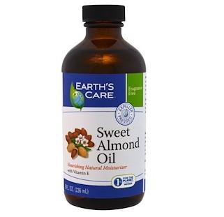 Earth's Care, Масло сладкого миндаля, 8 жидких унций (236 мл)