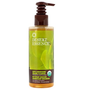 Desert Essence, Мягкое питательное органическое средство для умывания, 6,7 жидкой унции (195 мл)