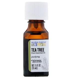 Aura Cacia, Чистое эфирное масло, чайное дерево, 15 мл (5 жидк. унций)