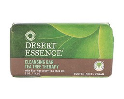 Desert Essence, Очищающее мыло с чайным деревом, 5 унций (142 г)