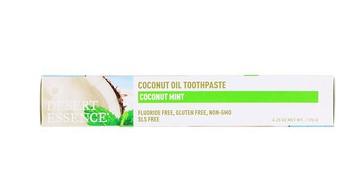 Desert Essence, Зубная паста с кокосовым маслом, Кокос и мята, 6,25 унции (176 г)