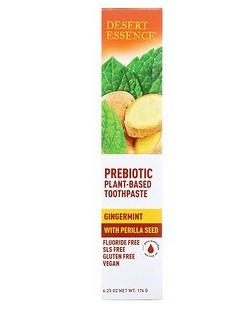 Desert Essence, Prebiotic, Plant-Based Toothpaste, Gingermint, 6.25 oz (176 g)