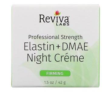 Reviva Labs, Эластин + DMAE ночной крем, 1,5 унц. (42 г)