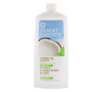Desert Essence, Ополаскиватель для полости рта с кокосовым маслом, Кокос и мята, 16 унций (480 мл)