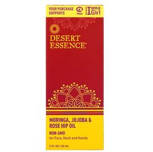Desert Essence, Композиция из масел моринги, жожоба и шиповника, 2 унции (60 мл)