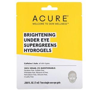 Acure, SuperGreens, осветляющие одноразовые гидрогелевые патчи для глаз, 2 шт по 0,236 ж. унц. (7 мл)