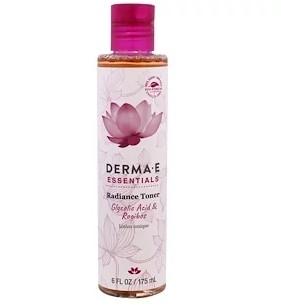 Derma E, Essentials, тоник для сияния, гликолевая кислота и ройбуш, 6 жидк. унц. (175 мл)