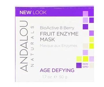 Andalou Naturals, Фруктовая ферментная маска, биоактивный комплекс 8 ягод, антивозрастная, 1,7 унции (50 г)