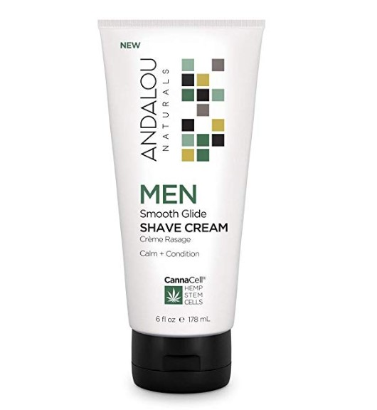 Andalou Naturals CannaCell MEN Smooth Glide Shave Cream 6 fl oz
