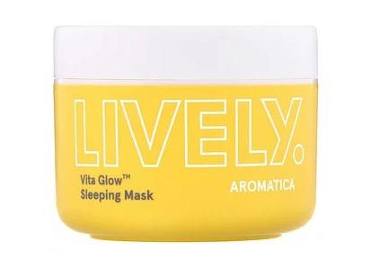 Aromatica, Lively, Vita Glow, Sleeping Mask, 3.5 oz (100 g)