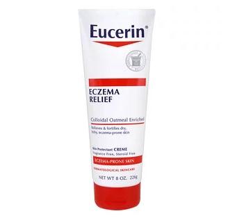 Eucerin, Крем для тела Eczema Relief, подходит для кожи, пораженной экземой, бе отдушек, 8,0 унц. (226 г)