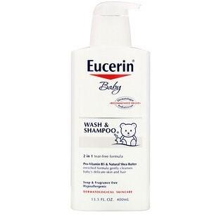 Eucerin, Детское моющее средство для волос и тела без запаха (400 мл)