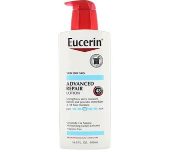 Eucerin, улучшенный восстанавливающий лосьон, без запаха, 500 мл (16,9 жидких унций)