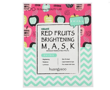 Huangjisoo, Red Fruits Brightening Mask, 1 Sheet, 25 ml
