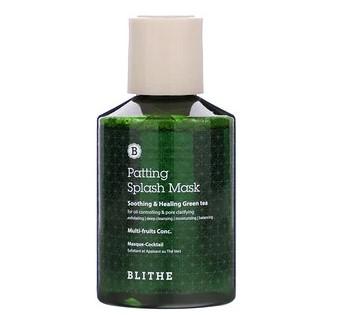 Blithe, Patting Splash Mask, маска с успокаивающим и заживляющим зеленым чаем, 150 мл (5,07 жидк. унции)