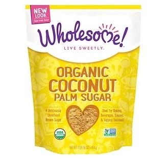 Wholesome , Органический сахар из кокосовой пальмы, 16 oz (454 г)