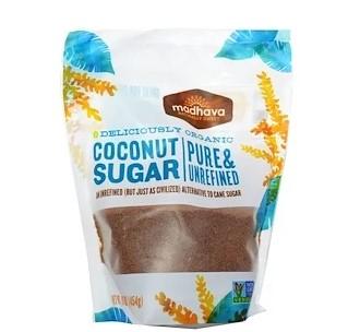 Madhava Natural Sweeteners, Натуральный кокосовый сахар, 1 фунт (454 г)