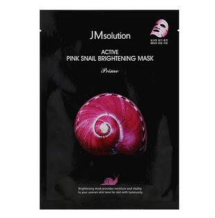 JM Solution, Active Pink Snail Brightening Mask, Prime, 1 Sheet, 30 ml