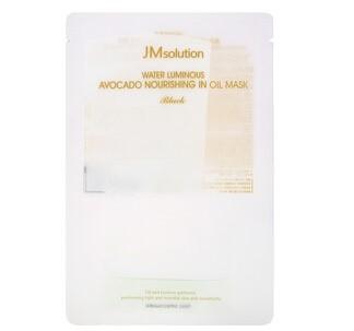 JM Solution, Water Luminous, питательная черная маска с авокадо и маслами, 1 шт.